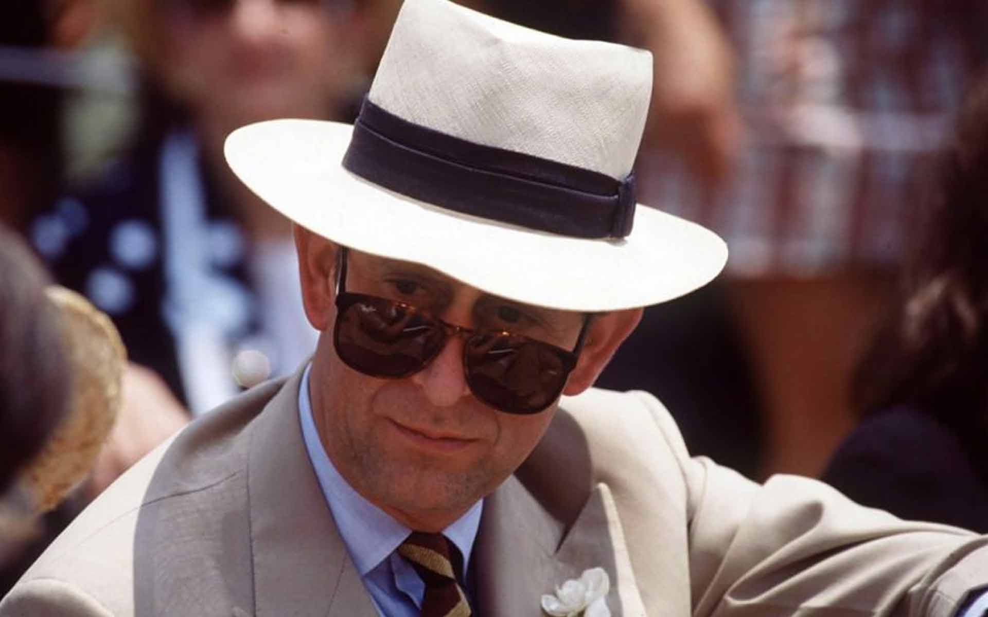 Prince Charles Showing his Style in Timeless Wayfarer Style Sunglasses