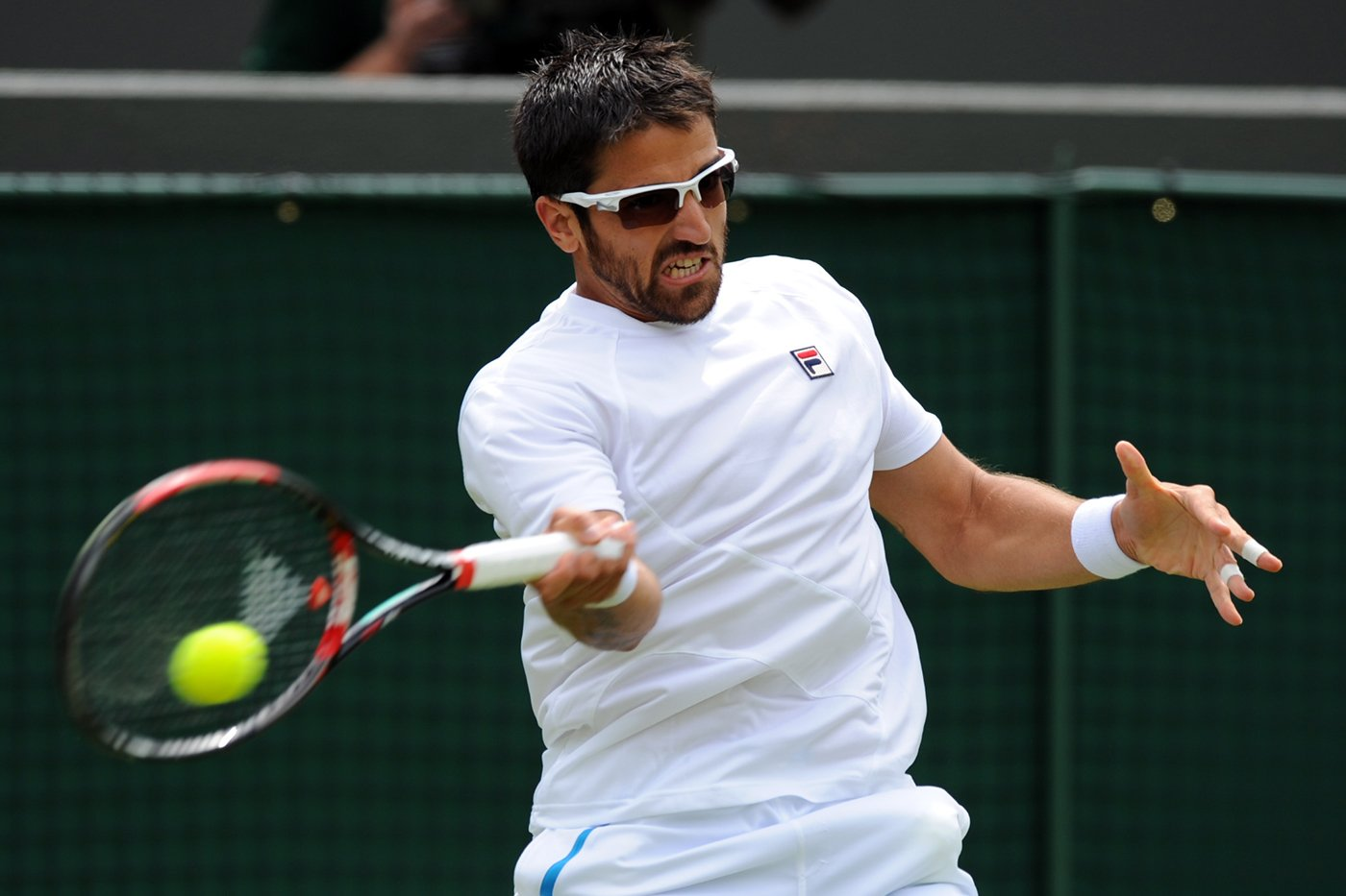 Wimbledon Tennis Match Athlete Wearing Sunglasses