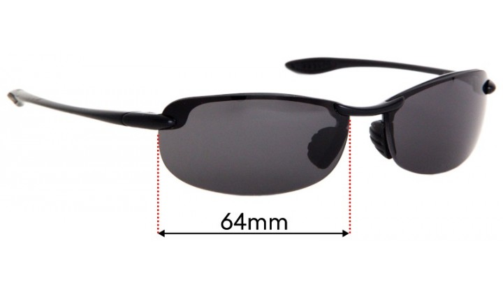 57mm Wide *Please SFx Replacement Sunglass Lenses fits Maui Jim MJ502 Kapalua