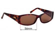 Sunglass Fix Replacement Lenses for Bill Bass Clair - 56mm wide