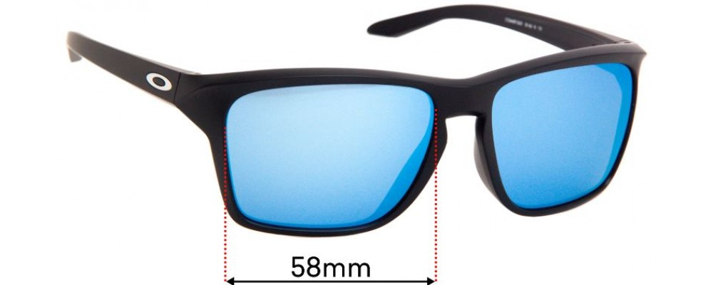 Oakley Sylas OO9448F Replacement Sunglass Lenses - 58mm Wide