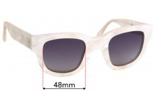 Acne Studios Pearlescent Square Frames Replacement Lenses 48mm