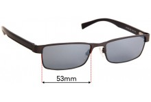 Sunglass Fix Replacement Lenses for Armani Exchange AX 1009 - 53mm Wide