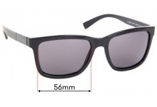 Sunglass Fix Replacement Lenses for Armani Exchange AX 4045S - 56mm Wide