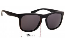 Sunglass Fix Replacement Lenses for Armani Exchange AX 4058S - 55mm wide