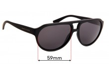ARMANI EXCHANGE AX 4042/S Replacement Sunglass Lenses - 59mm wide