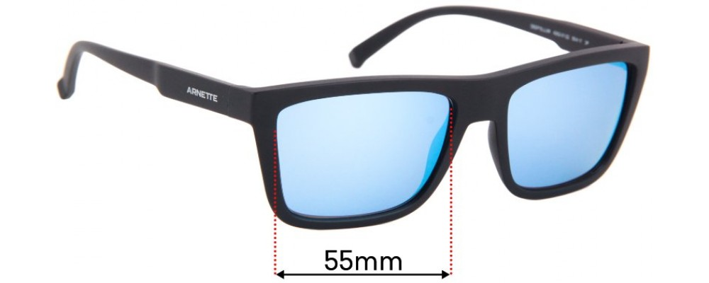 Arnette Deep Ellum AN4262 Replacement Sunglass Lenses - 55mm wide