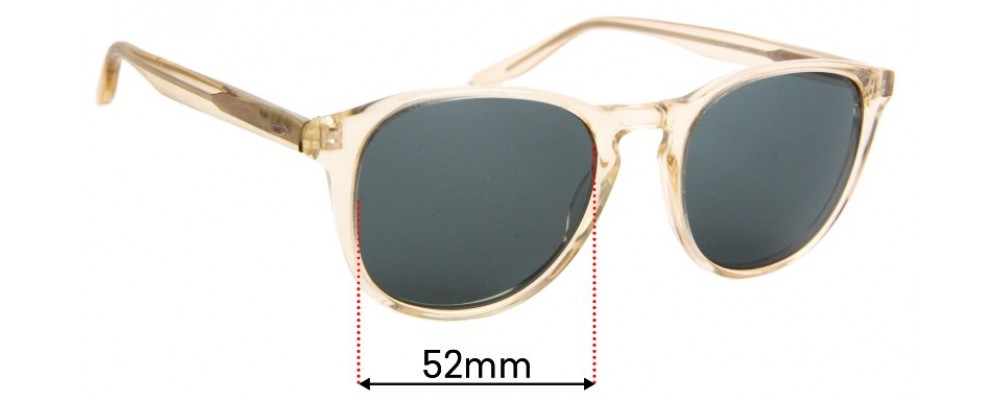 Sunglass Fix Replacement Lenses for Barton Perreira Plimsoul - 52mm Wide