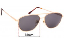 Ben-Glo Exclusive 53 Replacement Sunglass Lenses - 58mm wide