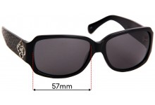Sunglass Fix Replacement Lenses for Brighton Toledo - 57mm Wide