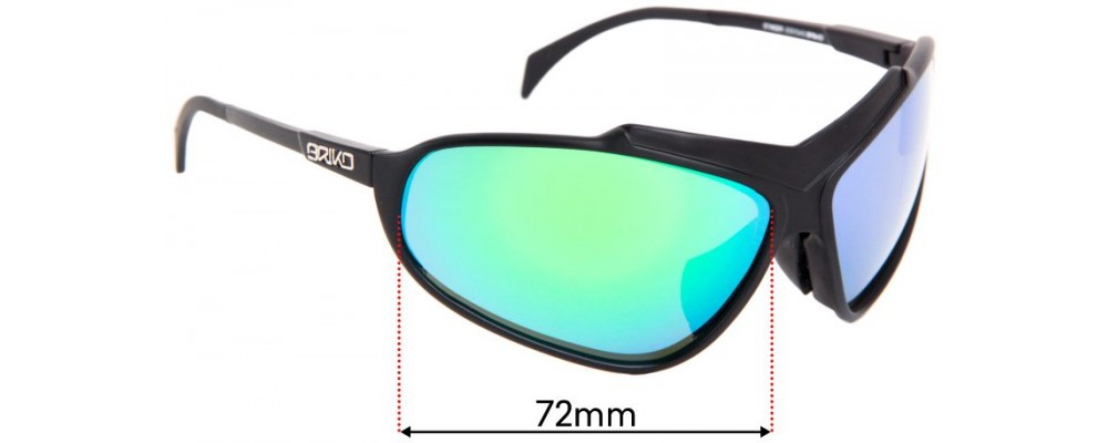 Briko Stinger Replacement Sunglass Lenses - 72mm Wide