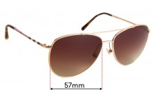 Burberry B 3072 Replacement Sunglass Lenses - 57mm Wide