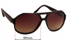 Sunglass Fix Replacement Lenses for Burberry B 4091 - 59mm Wide