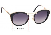Sunglass Fix Replacement Lenses for Burberry B 4251-Q - 53mm Wide