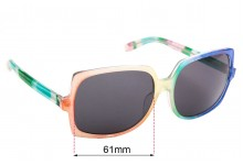 Camilla Unknown Replacement Sunglass Lenses - 61mm Wide