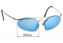 Carrera Porsche Design 5691 Replacement Sunglass Lenses - 57mm Wide