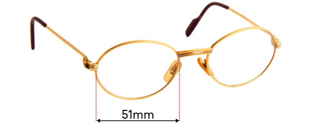 Sunglass Fix Replacement Lenses for Cartier - 51mm Wide