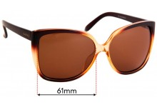Sunglass Fix Replacement Lenses for Carve Sheree - 61mm Wide