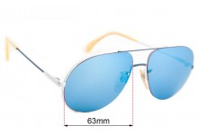 Cazal Mod 723 Replacement Sunglass Lenses - 63mm Wide