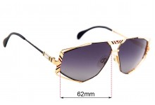 Cazel MOD 956 Replacement Sunglass Lenses - 62mm wide