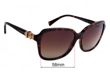 Coach HC 8179 Replacement Sunglass Lenses 58mm wide
