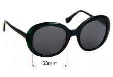 Sunglass Fix Replacement Lenses for Collette Dinnigan Sun Rx 27 - 53mm Wide