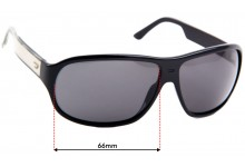 Diesel DS0188 Replacement Sunglass Lenses - 66mm wide