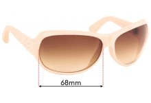 Dita Scandal Replacement Sunglass Lenses - 68mm Wide