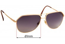 Sunglass Fix Replacement Lenses for Dolce & Gabbana DG2097 - 61mm Wide