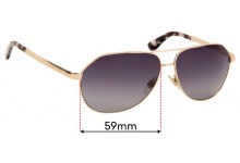 Dolce & Gabbana DG2144 Replacement Sunglass Lenses - 59mm wide