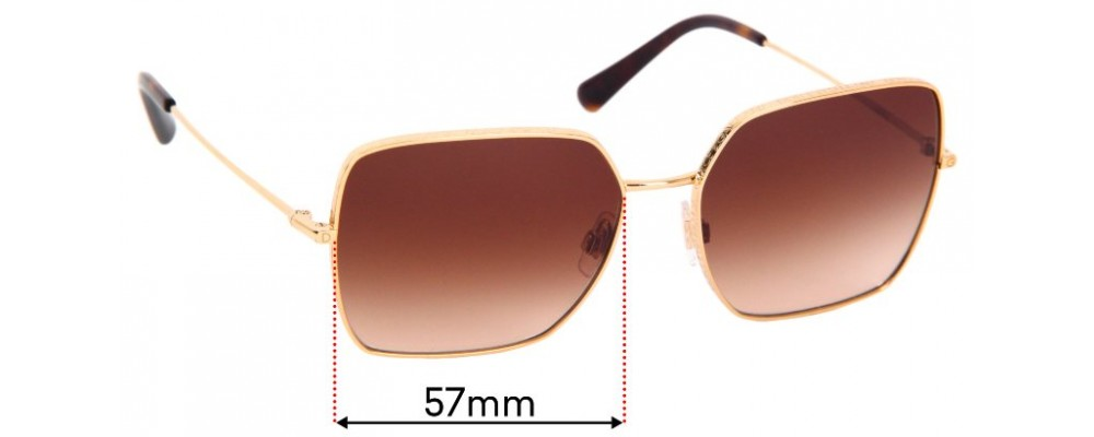Dolce & Gabbana DG2242 Replacement Sunglass Lenses - 57mm Wide