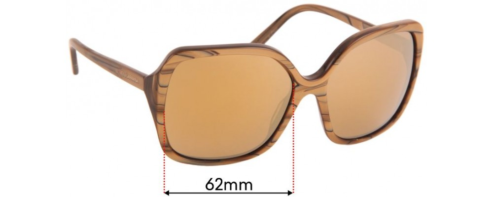 Dolce & Gabbana DG4049 Replacement Sunglass Lenses - 62mm wide