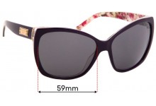 Sunglass Fix Replacement Lenses for Dolce & Gabbana DG4111 - 59mm Wide