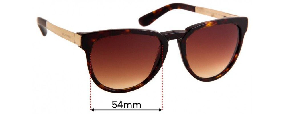 Sunglass Fix Replacement Lenses for Dolce & Gabbana DG4257 - 54mm Wide