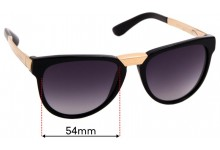 Sunglass Fix Replacement Lenses for Dolce & Gabbana DG4257-F- 54mm wide