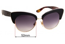 Sunglass Fix Replacement Lenses for Dolce & Gabbana DG4277 - 52mm Wide