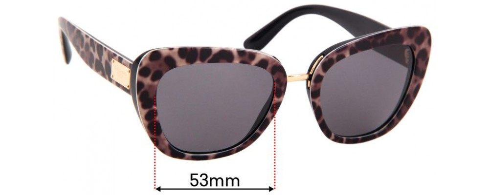 Sunglass Fix Replacement Lenses for Dolce & Gabbana DG4296 - 53mm wide