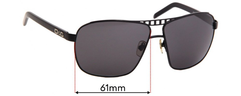 Sunglass Fix Replacement Lenses for Dolce & Gabbana DG6040 - 61mm wide