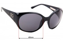 Sunglass Fix Replacement Lenses for Dolce & Gabbana DG6060 - 60mm wide