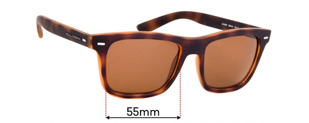 Sunglass Fix Replacement Lenses for Dolce & Gabbana DG6095  - 55mm Wide