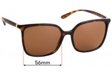 Sunglass Fix Replacement Lenses for Dolce & Gabbana DG6112 - 56mm Wide