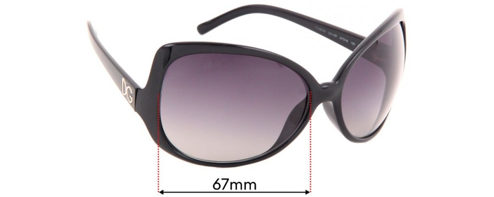 Dolce & Gabbana DG6035 Replacement Sunglass Lenses - 67mm wide
