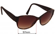 Sunglass Fix Replacement Lenses for Dolce & Gabbana DG4117 - 57mm wide
