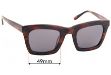 Ellery Sun Rx Replacement Sunglass Lenses - 49mm Wide