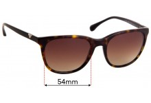 Emporio Armani EA4086 Replacement Sunglass Lenses - 54mm Wide
