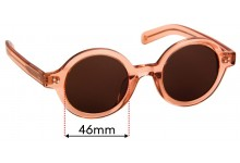 Sunglass Fix Replacement Lenses for Epokhe Ollo - 46mm Wide