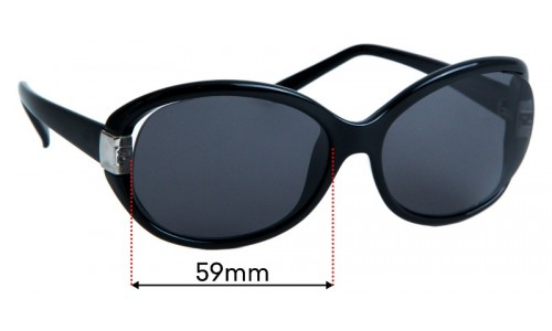 Sunglass Fix Replacement Lenses for Fendi FS 5152 59mm wide