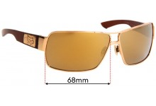 Sunglass Fix Replacement Lenses for Fox The Meeting - 65mm Wide