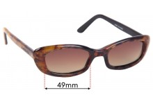 Gucci 168 Replacement Sunglass Lenses - 49mm Wide