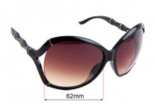 Sunglass Fix Replacement Lenses for Gucci GG 3509/S - 62mm wide